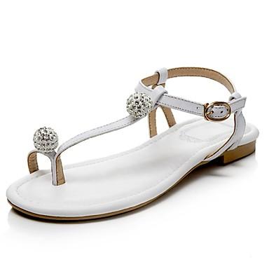 Chaussures Talon Plat été Confort Noir 06831809 Printemps Sandales Nappa Femme Rose Cuir Blanc HTaHdq
