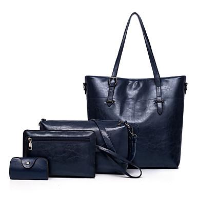 165b5f84c6 Γυναικεία Τσάντες PU Σετ τσάντα 4 σετ Σετ τσαντών Φερμουάρ Συμπαγές Χρώμα  Ρουμπίνι   Γκρίζο   Καφέ