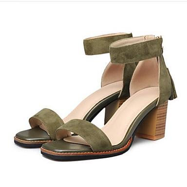 Noir Bottier Jaune 06840661 Femme Confort Eté Daim Kaki Chaussures Talon Sandales 07gR6wq