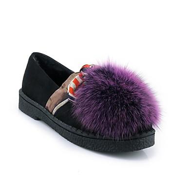 06828391 Polyuréthane Jaune Chaussures D6148 Vert Confort Talon hiver Plat Mocassins Femme Chaussons et Violet Automne qUx6w56Bg