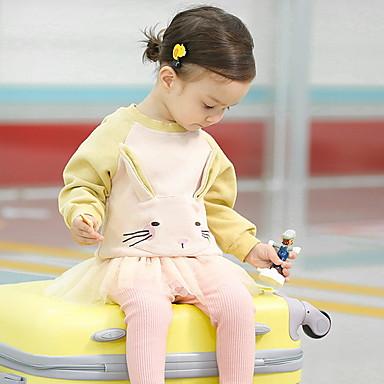 296b529cbb7 Μωρό Κοριτσίστικα Ενεργό Στάμπα Μακρυμάνικο Πολυεστέρας Μπλούζα με Κουκούλα  & Φούτερ Θαλασσί / Νήπιο