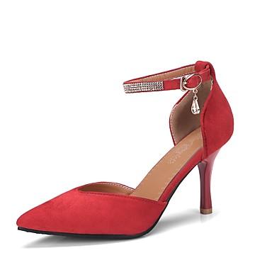 Basique Beige Mariage Evénement à Chaussures dragée 06798783 Chaussures Rose Rouge Microfibre clair Boucle pointu Talons Escarpin Automne Femme Bout Talon Aiguille amp; Soirée IOUxx