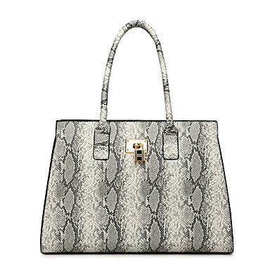 50857f9c8a59 Women s Bags PU(Polyurethane) Tote Zipper Geometric Beige   Brown   Khaki