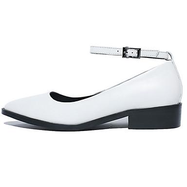 Heel Femme été Confort Chaussures Bout 06831020 Blanc Cuir Noir Block Nappa Printemps Bateau pointu Chaussures rgwxZqrIz