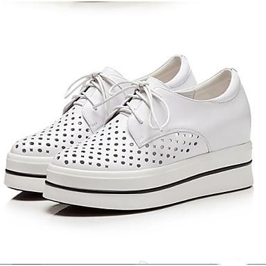 Bout Chaussures Blanc Femme Nappa Rose Printemps Eté fermé 06832832 Basket Confort Cuir Creepers 8wFvdqw