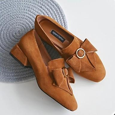 et Noir de mouton Daim Chaussures Bottier Peau D6148 Marron Talon Mocassins Confort Bout Eté fermé Femme 06833566 Chaussons Printemps Caxznqnw