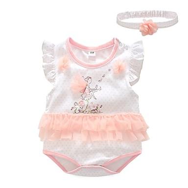 cf4354b1c787 Baby Girls  Basic Geometric Sleeveless Cotton Bodysuit Pink   Toddler