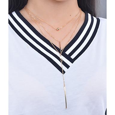 Mulheres Colares com Pendentes / Colares Declaração / Pingentes - Personalizada, Pingente, Fashion Dourado Colar Para Ocasião Especial, Diário, Casual / colares em camadas