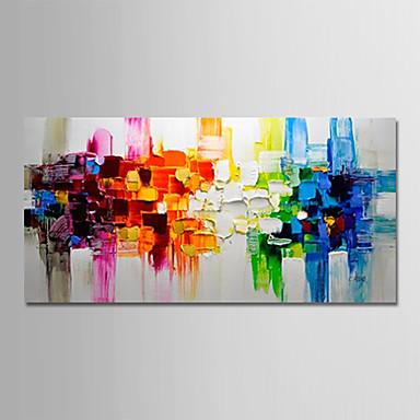 Hang oslikana uljanim bojama Ručno oslikana - Sažetak / Pejzaž Moderna Platno