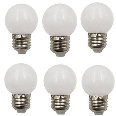 6kpl 2 W LED-pallolamput 80 lm E26 / E27 G45 8 LED-helmet SMD 2835 Koristeltu Joulun hääkoristelu Lämmin valkoinen Kylmä valkoinen 220-240 V / RoHs
