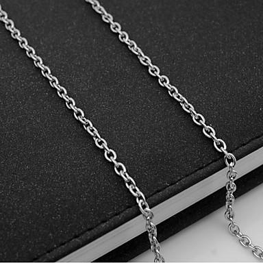 voordelige Herensieraden-Heren Kettingen Enkele Draad Mariner Chain Europees Titanium Staal Zilver 55 cm Kettingen Sieraden 1pc Voor Dagelijks