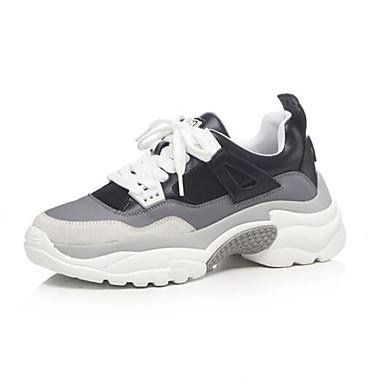 Noir Chaussures Femme Confort Bout Ballerines Hauteur Boucle Blanc semelle compensée rond de Microfibre 06830509 Eté qgCwxqO