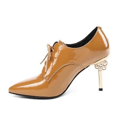 Confort Femme Noir Printemps Nappa Clair 06794660 Aiguille Basique Jaune Escarpin Chaussures Automne Oxfords Cuir Talon wCwq4SF