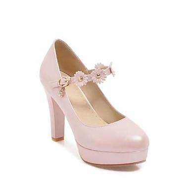 Chaussures Boucle Beige Femme Rose Chaussures Confort Printemps Bout Noir rond Polyuréthane Bottier Automne à Talons Talon 06782260 qCC74Fdnx