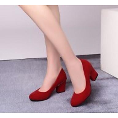 Confort Automne Rouge à Polyuréthane Chaussures Noir Femme Talon Bottier Basique Chaussures Printemps Escarpin 06817267 Talons qwnIROxpta