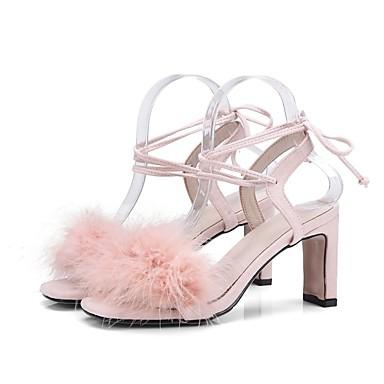 Confort Chaussures Talon Gris Rose 06834864 Femme Eté Sandales Daim Bottier Noir qaBn14n
