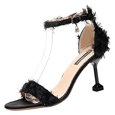 Rosa Negro D'Orsay 06828411 Sandalias y Zapatos Verano Stiletto Mujer Piezas Tacón Dos PU wRn6Pn7qv