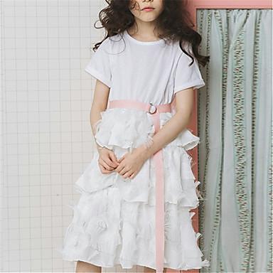 Djeca Djevojčice Aktivan / slatko Color block Kratkih rukava Haljina