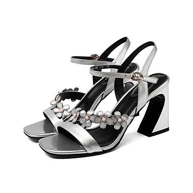 Gris Bottier Rose 06840520 Talon Femme Sandales Cuir Confort Argent Eté Chaussures Yxvz74q0