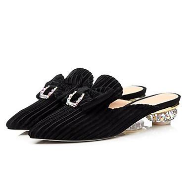 Daim Mules Talon Noir 06797695 Vert Escarpin Printemps hétérotypique Sabot Femme foncé Confort Chaussures amp; Basique Sz5xwRq8