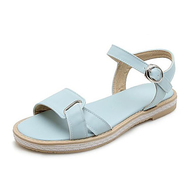 Tacón Plano PU Beige Zapatos Sandalias Confort 06810389 Azul Verano Rosa Mujer Claro aO1WwqSXa