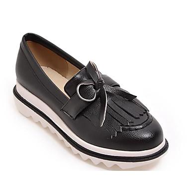 Automne Blanc D6148 Chaussures Bas Rose et Chaussons 06791391 Mocassins Printemps Confort Talon Noir Femme Polyuréthane taqPwFq