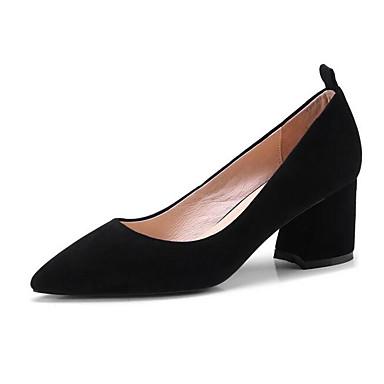 Talon Printemps Daim Talons Bottier Rose Chaussures Femme à Chaussures 06840806 Noir Confort q0pEAfw