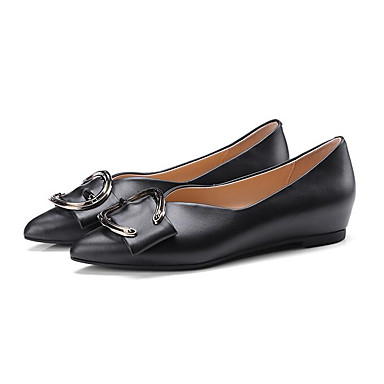 Talon Nappa Confort Chaussures Beige 06834287 Femme Noir Printemps Plat Cuir Ballerines PxSqYBq