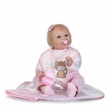 NPKCOLLECTION MUÑECA NPK Muñecas reborn Muñeca chica Bebés Niñas 24 pulgada Recién nacido natural Bonito Segura para Niños Interacción padre-hijo Morazón enraizado a mano Kid de Chica Juguet Regalo