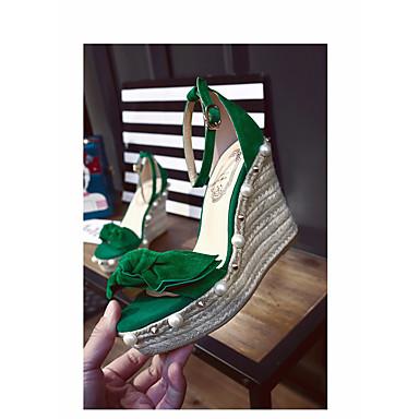 été Creepers à Confort Chaussures Vert Talons 06817177 Daim Printemps Chaussures Amande Femme twBAxfq8w