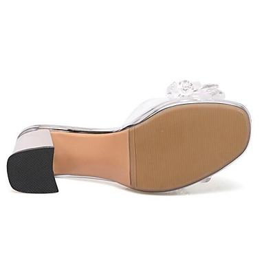 synthétique Matière Bottier Femme Sandales Eté Blanc Talon Chaussures 06837614 Confort gqgfw5