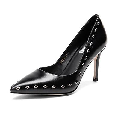 Žene Cipele Brušena koža Zima Udobne cipele Cipele na petu Stiletto potpetica Crn / Crvena / Zelen