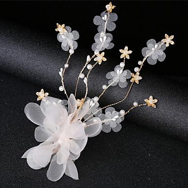 voordelige Dames Sieraden-Dames Eenvoudig Koreaans Stof Kristal Hoofd Sieraden Feest Ceremonie - Bloemen