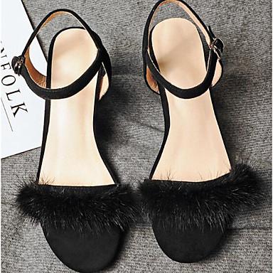 carmel: carmel: carmel: monsieur / madame: les chaussures de confort d'été / de base du mouton noir / amande pompe sandales chunky talon 75c209