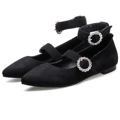 Blanco Verano Negro Punta 06832007 Bailarinas Mujer Tacón Zapatos Gris Microfibra Confort cerrada Primavera Plano w6navqS