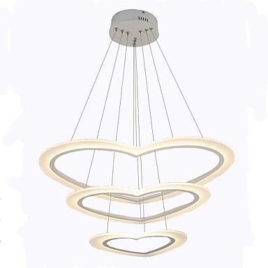 Oulm 3-Light Cirkularno / Mini Lusteri Ambient Light Slikano završi Aluminij Zatamnjen 110-120V / 220-240V Zatamnjen daljinskim upravljačem Uključen je LED izvor svjetlosti / Integrirano LED svjetlo