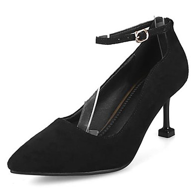 Chaussures Bout Aiguille à Escarpin Noir Tricot Marche Basique Chaussures Rouge Femme Automne 06832976 Talons Confort pointu Talon 7fwqxpCYnC