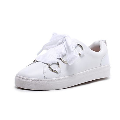 Žene Cipele Mekana koža Proljeće / Jesen Udobne cipele Sneakers Ravna potpetica Okrugli Toe Obala