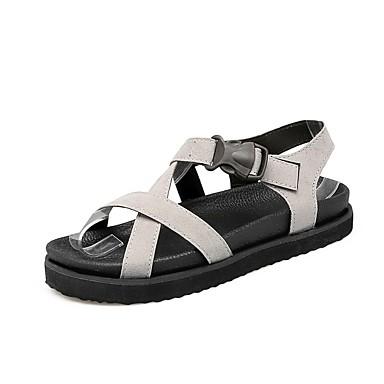 Negro 06863597 plataforma Media Zapatos Gris Sandalias Primavera Confort PU verano Mujer xZAwB8qUn