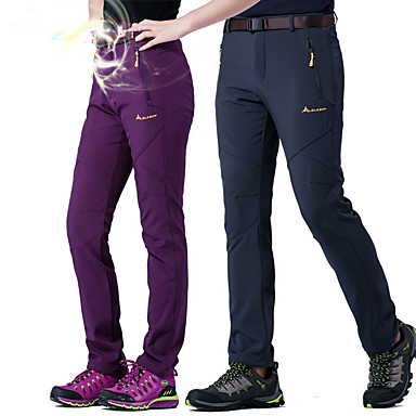 Women's Hiking Pants Softshell Pants Outdoor Windproof Warm Breathability Winter Softshell Pants / Trousers Camping / Hiking Hunting Climbing Purple Fuchsia Army Green XL XXL XXXL / Stretchy