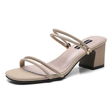 été Sandales Printemps Chaussures Noir Talon Amande Bottier 06863714 Confort Microfibre Femme OZqBnwHtZ