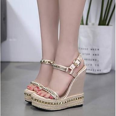 Eté Plat Bout Femme Talon 06848792 ouvert Confort Sandales Chaussures Amande Satin FE4wq7A
