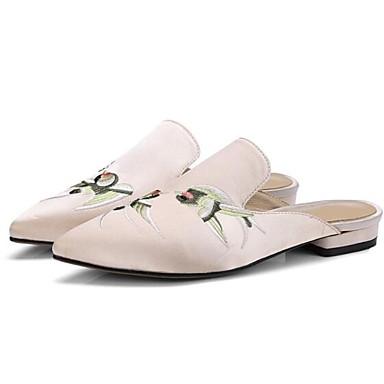 Eté Printemps amp; Satin Noir Amande Talon 06850033 Chaussures Bout Femme Confort fermé Plat Mules Sabot cT4qA5gn