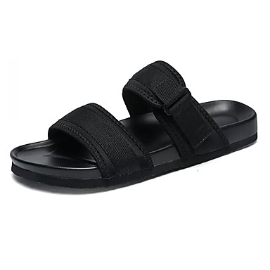 Men's Light & Soles Denim Summer Slippers & Light Flip-Flops Black d7885e