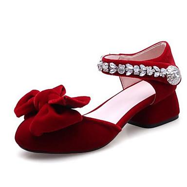 Women's / Comfort Shoes Suede Summer Heels Chunky Heel Black / Women's Red c15e8d
