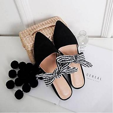 Eté Talon amp; Confort fermé Bout Sabot Chaussures de Femme 06850216 mouton Noir Daim Peau Mules Plat Printemps PYxnCUpRqw