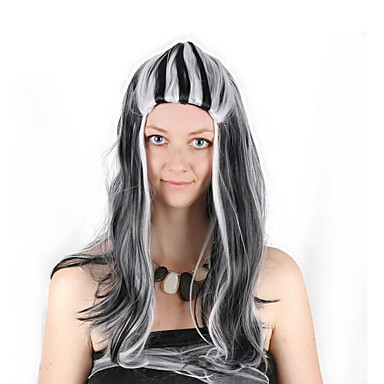Synthetic Wig   Cosplay Wig Curly Dark Gray Bob Black   White Synthetic  Hair 28 inch 9ef45e27a
