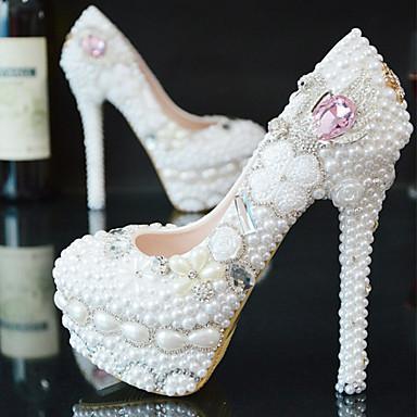 Mujer Tacones cerrados PU Primavera   Otoño Zapatos de boda Tacón Stiletto  Dedo redondo Pedrería   a30b2ec308c7