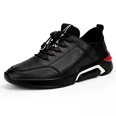 Men's PU(Polyurethane) Spring Walking Light Soles Athletic Shoes Walking Spring Shoes Color Block White / Black / Black / White 6d06df