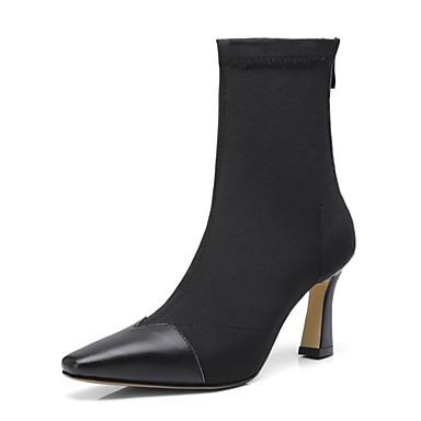 Cuir Bottes Talon Aiguille Noir Automne hiver Vin Amande Confort 06848574 Nappa Femme Chaussures HxnRqwanf